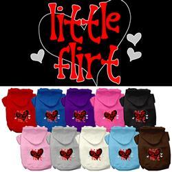Little Flirt Screen Print Pet Hoodies