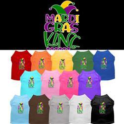 Mardi Gras King Screen Print Dog Shirt