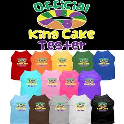 King Cake Taster Screen Print Dog Shirt