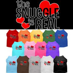 The Snuggle Is Real Screen Print Dog Shirt