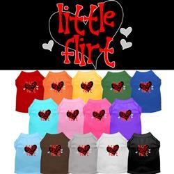 Little Flirt Screen Print Dog Shirt
