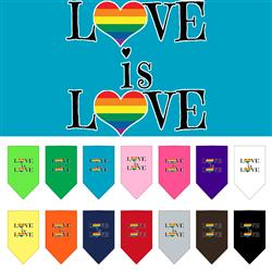 Love Is Love Screen Print Pet Bandana