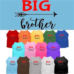 Big Brother Screen Print Dog Shirt