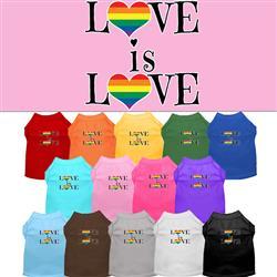 Love is Love Screen Print Dog Shirt