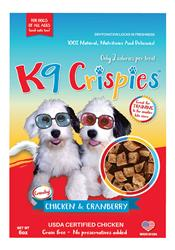 K9 Crispies Chicken with Cranberry Bite Size Dog Treats - 6oz. Resealable Bag