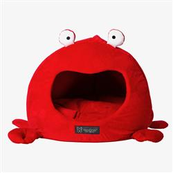 CRAB SHAPE CAT HUT MICRO FLEES PET BED