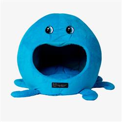 BLUE OCTOPUS SHAPE CAT HUT MICRO FLEES PET BED