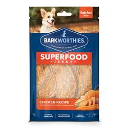 Superfood Chicken Jerky w/Pumpkin, Sweet Potato & Carrot by Barkworthies (4 oz. SURP)