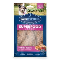Superfood Turkey Jerky w/Cranberry & Blueberry (4 oz. SURP) by Barkworthies