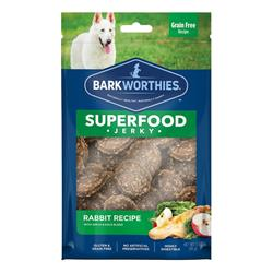 Superfood Rabbit Jerky w/Apple & Kale by Barkworthies