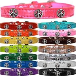 Peace Sign Widget Croc Dog Collar