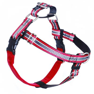"1"" Patented Red Reflective Freedom No-Pull Harness Deluxe Training Package (35-200 lbs)"