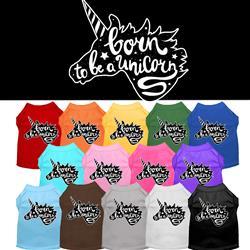 Born to Be a Unicorn Screen Print Dog Shirt