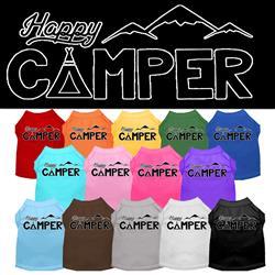 Happy Camper Screen Print Dog Shirt