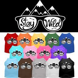 Stay Wild Screen Print Dog Shirt