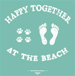Happy Together at the Beach - Ladies' V Neck T-shirt