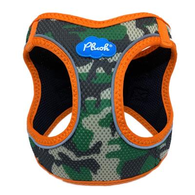 Camo / Orange Plush Step In Vest Air-Mesh Harness