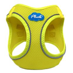 Blazing Yellow Plush Step In Vest Air-Mesh Harness