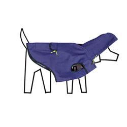 Blue Anorak Raincoat  w/Tartan Plaid Trim