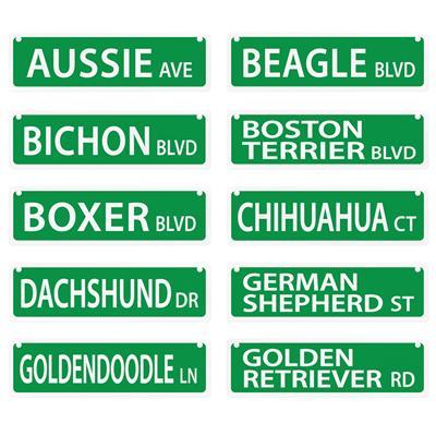 """Dog Mini Street Signs - 2"""" x 8"""""""