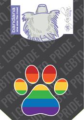 Gay Flag Paw Bandana