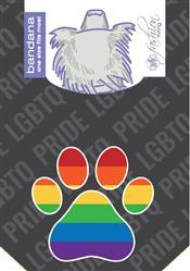 Gay Flag Paw Bandana