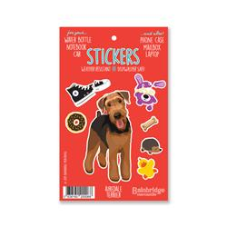 "Airedale Terrier - Sticker Sheet 4"" x 6.50"""