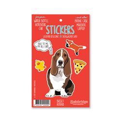 """Basset Hound - Sticker Sheet 4"""" x 6.50"""""""