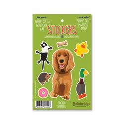 "Cocker Spaniel - Sticker Sheet 4"" x 6.50"""