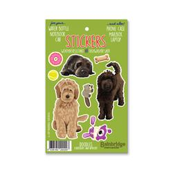 "Doodle (Chocolate & Apricot) - Sticker Sheet 4"" x 6.50"""