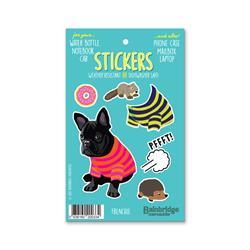 """Frenchie (Black) - Sticker Sheet 4"""" x 6.50"""""""
