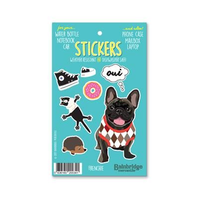 "Frenchie (Brindle) - Sticker Sheet 4"" x 6.50"""