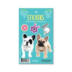 "Frenchie (White & Tan) - Sticker Sheet 4"" x 6.50"""