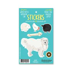 "Great Pyrenees - Sticker Sheet 4"" x 6.50"""