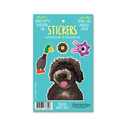 "Italian Water Dog - Sticker Sheet 4"" x 6.50"""