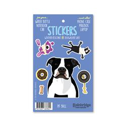 "Pit Bull (Black & White) - Sticker Sheet 4"" x 6.50"""