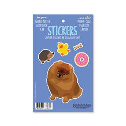 "Pomeranian - Sticker Sheet 4"" x 6.50"""