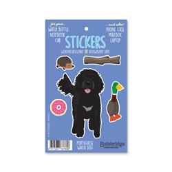 "Portuguese Water Dog - Sticker Sheet 4"" x 6.50"""