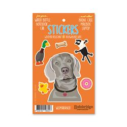 "Weimaraner - Sticker Sheet 4"" x 6.50"""
