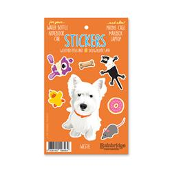 "Westie - Sticker Sheet 4"" x 6.50"""