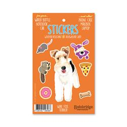"Wire Fox Terrier - Sticker Sheet 4"" x 6.50"""