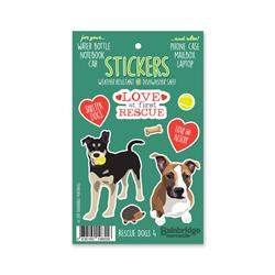 "Rescue Dogs 4 - Sticker Sheet 4"" x 6.50"""