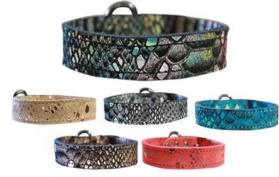 Dragon Skin Genuine Leather Dog Collar