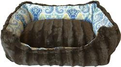 Bohemian Blues Reversible Bumper Dog Bed