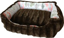 Llama Reversible Bumper Dog Bed