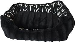 Black Arrow Reversible Bumper Dog Bed