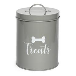 "Jasper Grey Treat Canister - ""TREATS"""