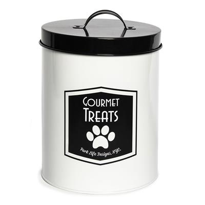 Gourmet White Food Storage Canister