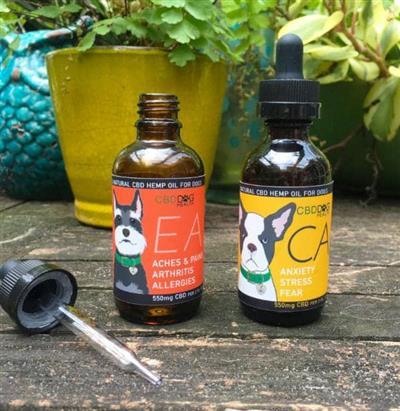 EASE - Full Spectrum Hemp CBD Oil for Dogs - 550mg/2oz.