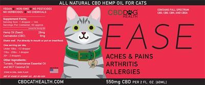 EASE - Full Spectrum Hemp CBD Oil for Cats - 550mg/2oz.